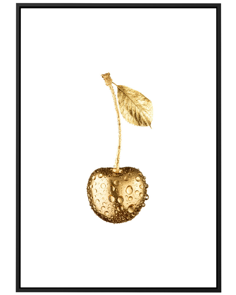 Quadro Cereja Dourada
