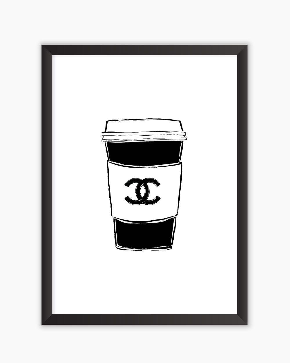 Quadro Chanel Coffee