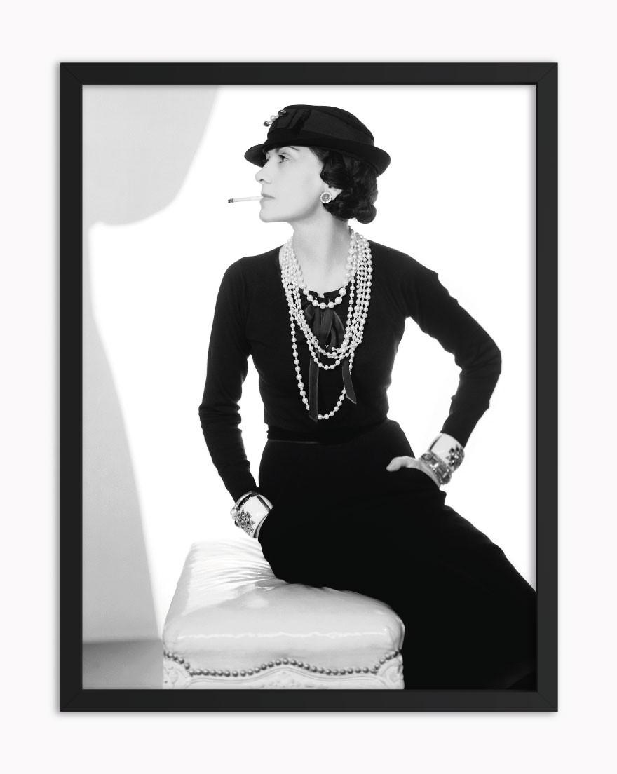 Quadro Coco Chanel BW