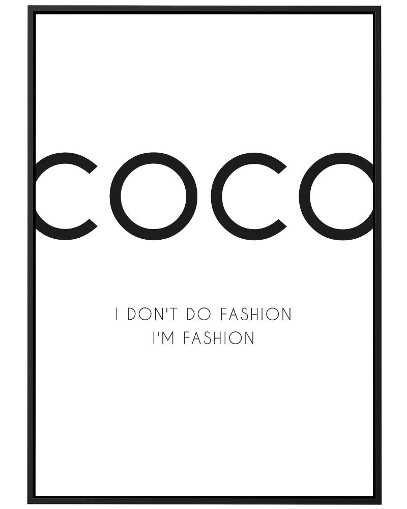Quadro Coco I don't do Fashion
