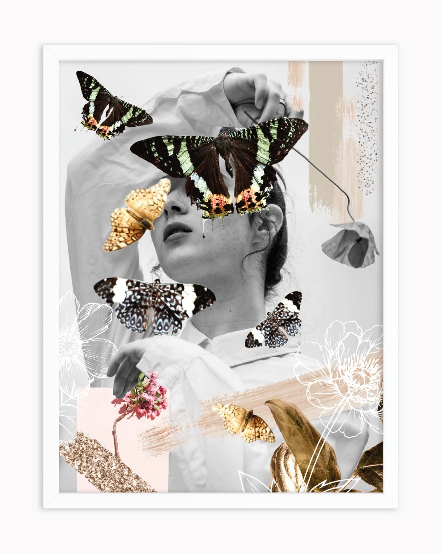 Quadro Collage Butterfly