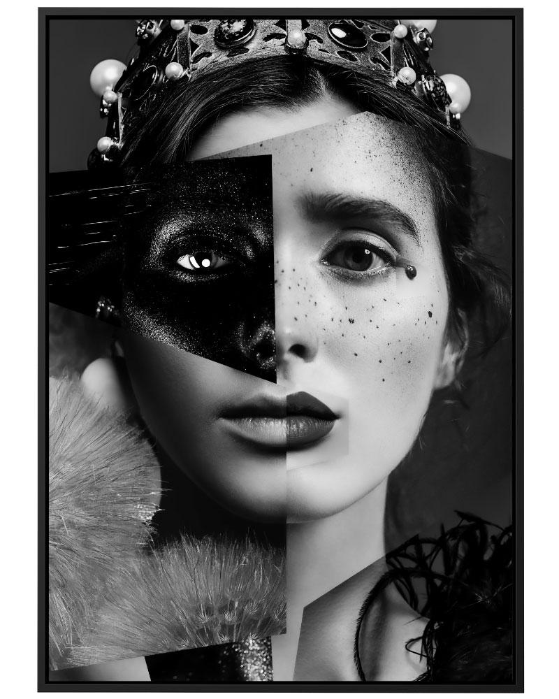 Quadro Collage Duas Faces