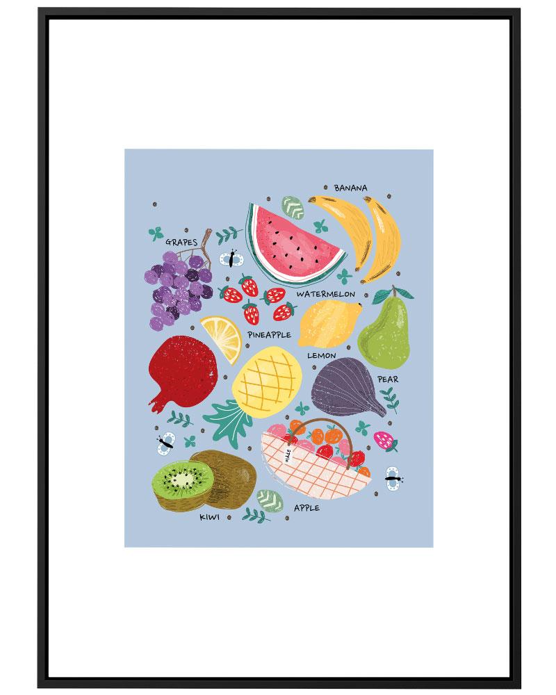 Quadro Cozinha Frutas