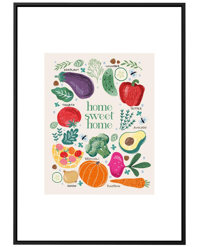 Quadro Cozinha Legumes