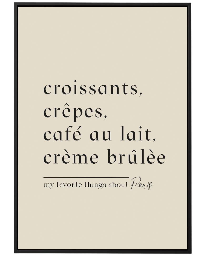 Quadro Croissants