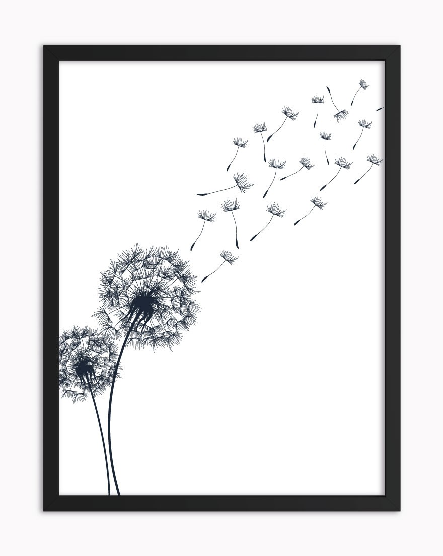 Quadro Dandelion Azul