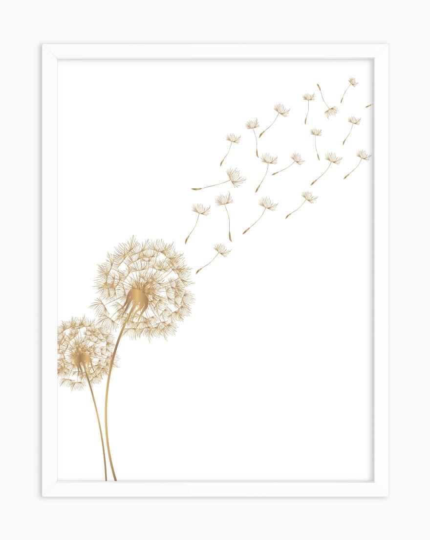 Quadro Dandelion Gold