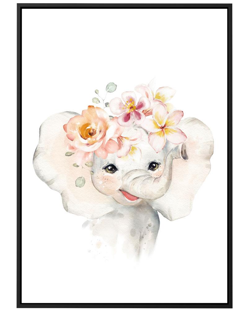 Quadro Elefante Baby Girl