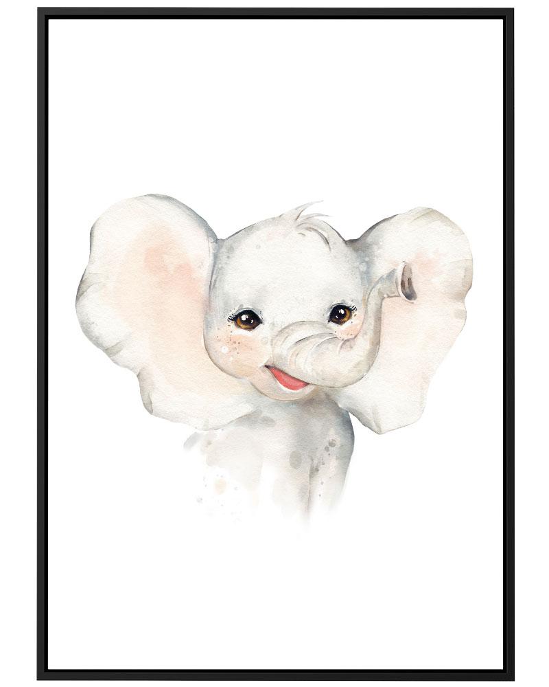 Quadro Elefante Mini Baby