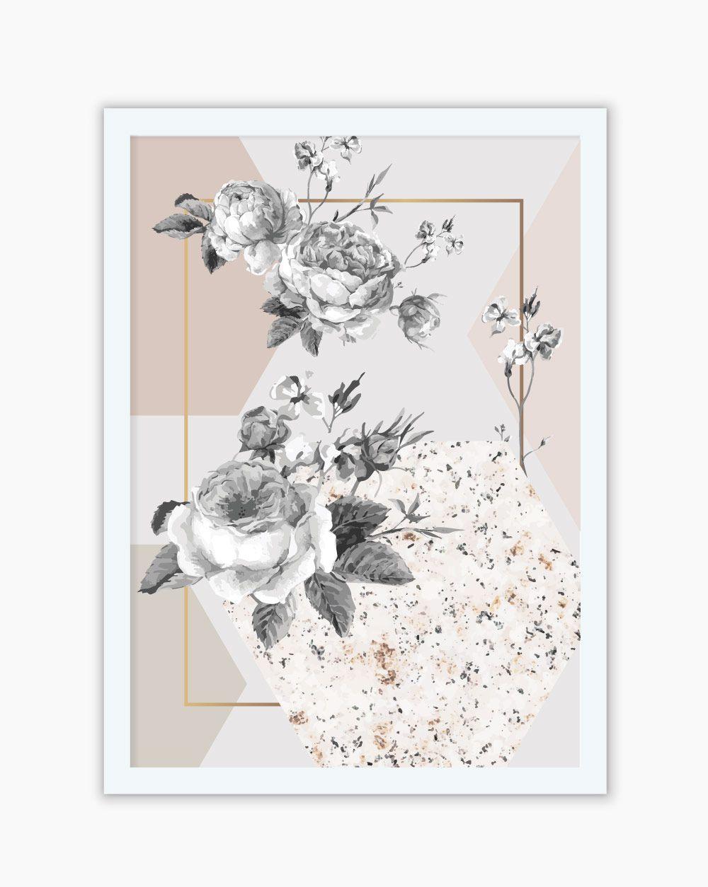 Quadro Elegance Flower Geometric