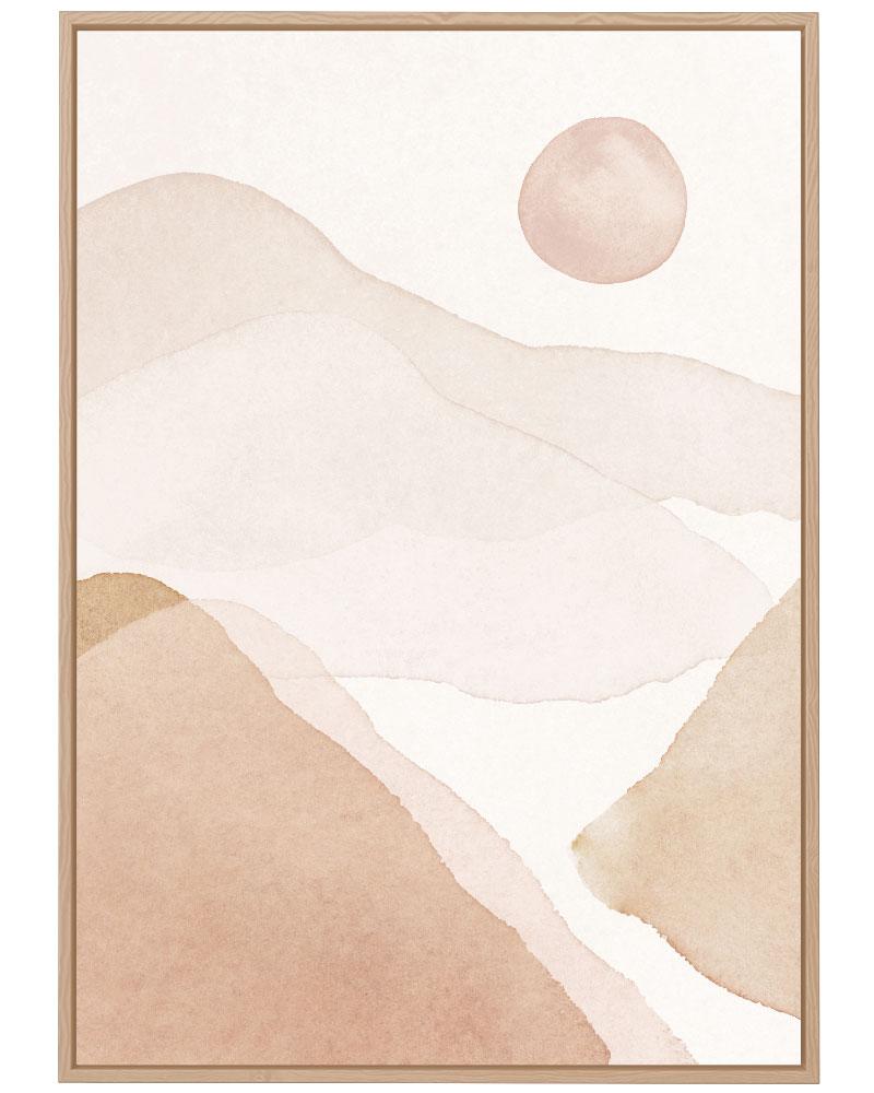 Quadro Entardecer no Deserto