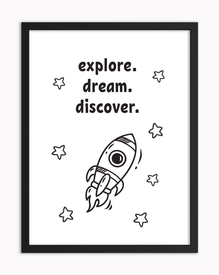 Quadro Explore Dream Discover