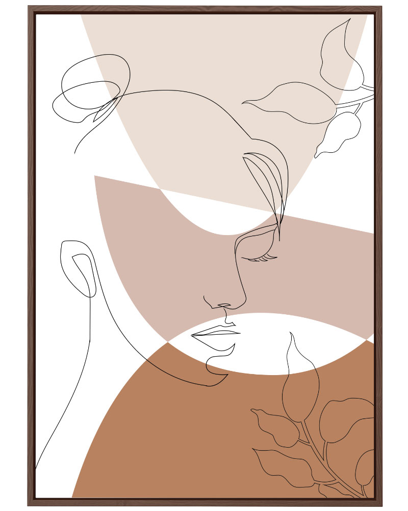 Quadro Face e Formas