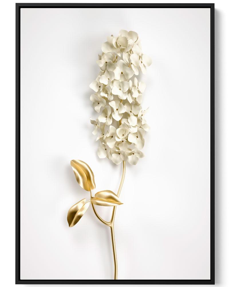 Quadro Flor Dourada I
