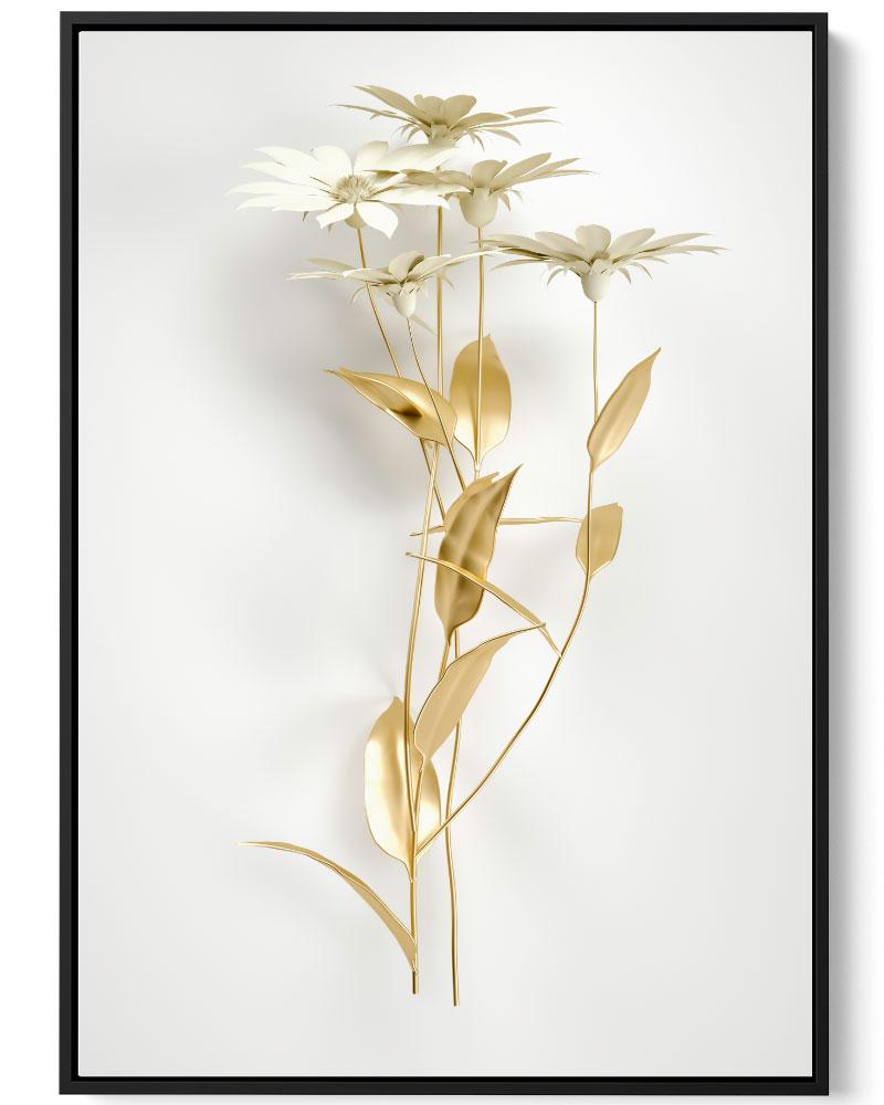 Quadro Flor Dourada II