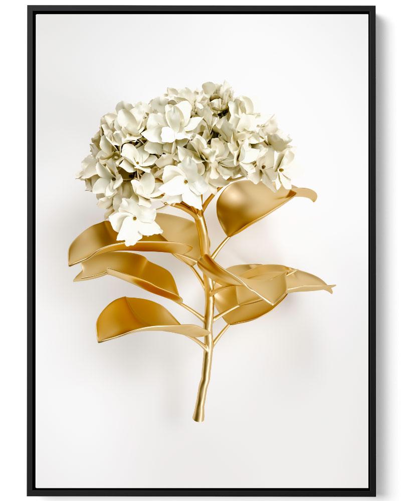 Quadro Flor Dourada III