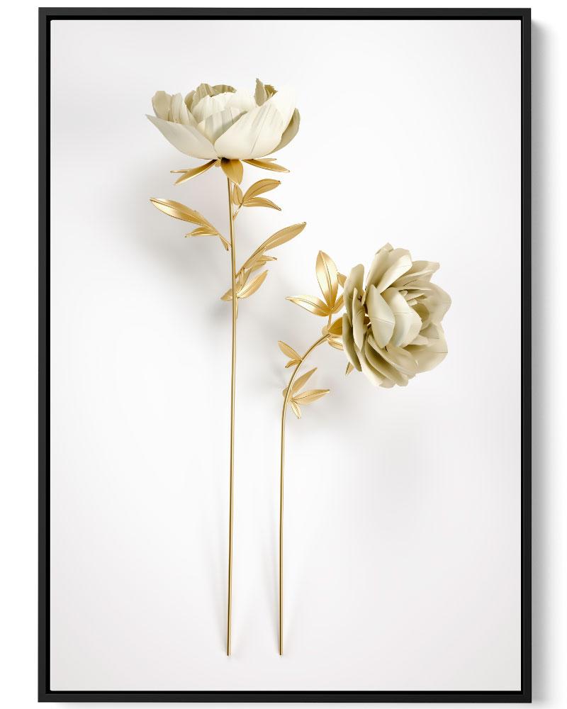 Quadro Flor Dourada IV