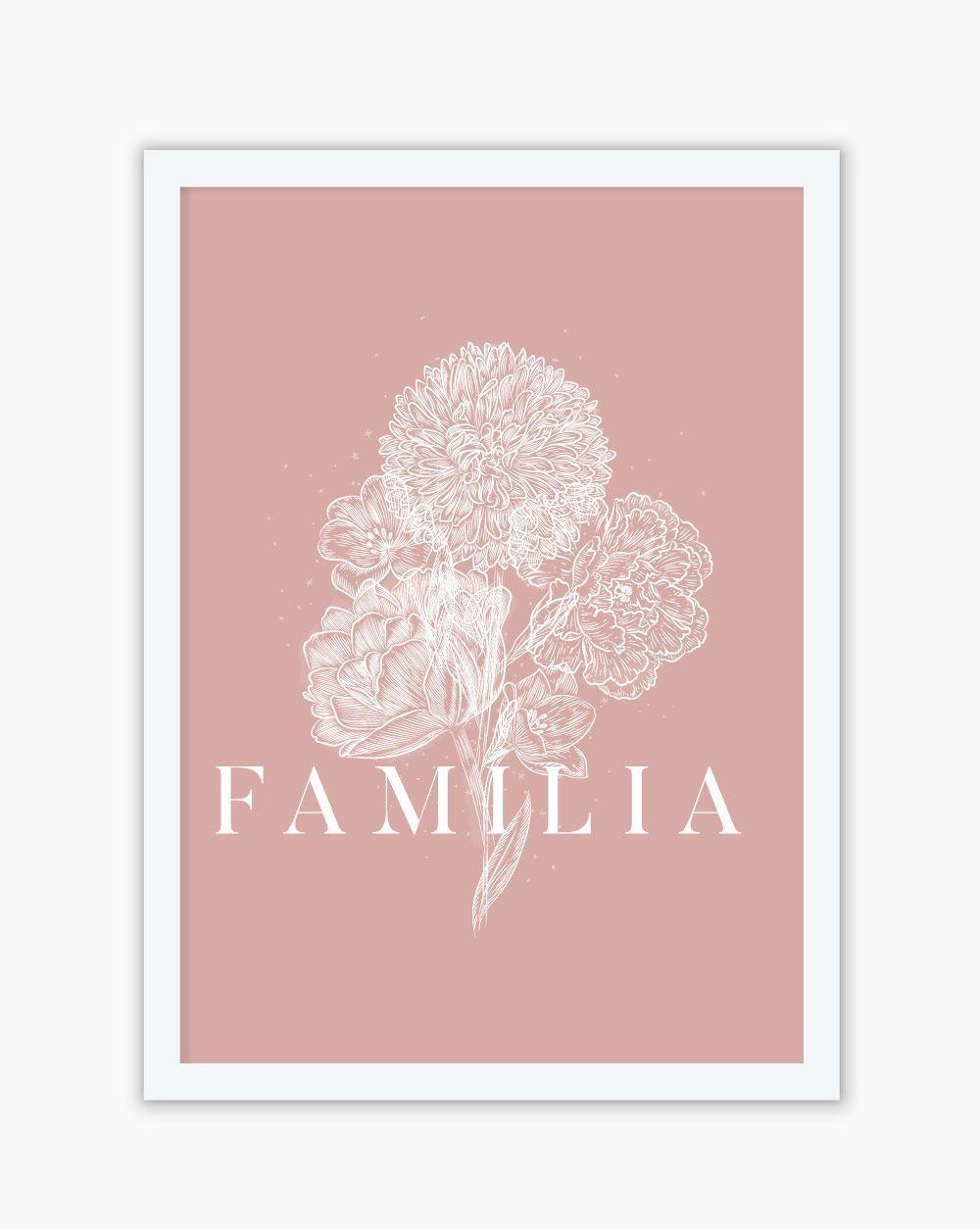 Quadro Flor Família