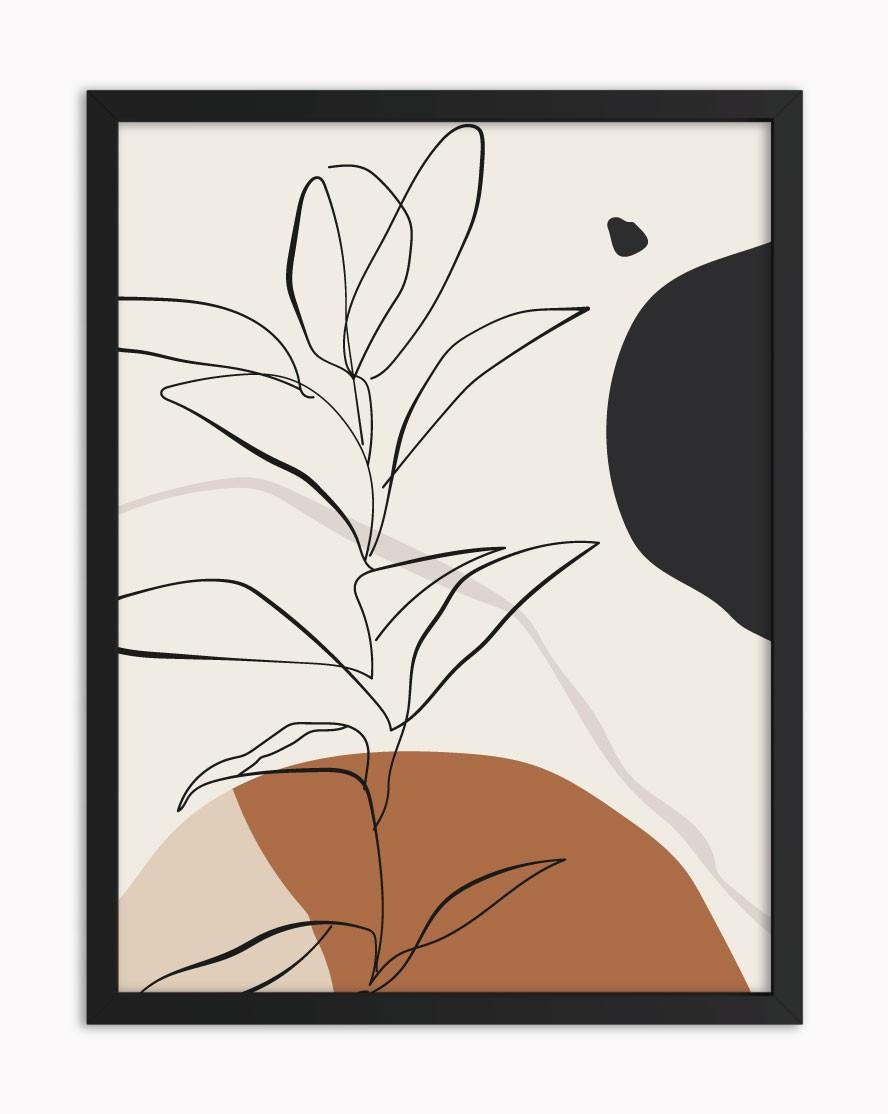 Quadro Floral Black I