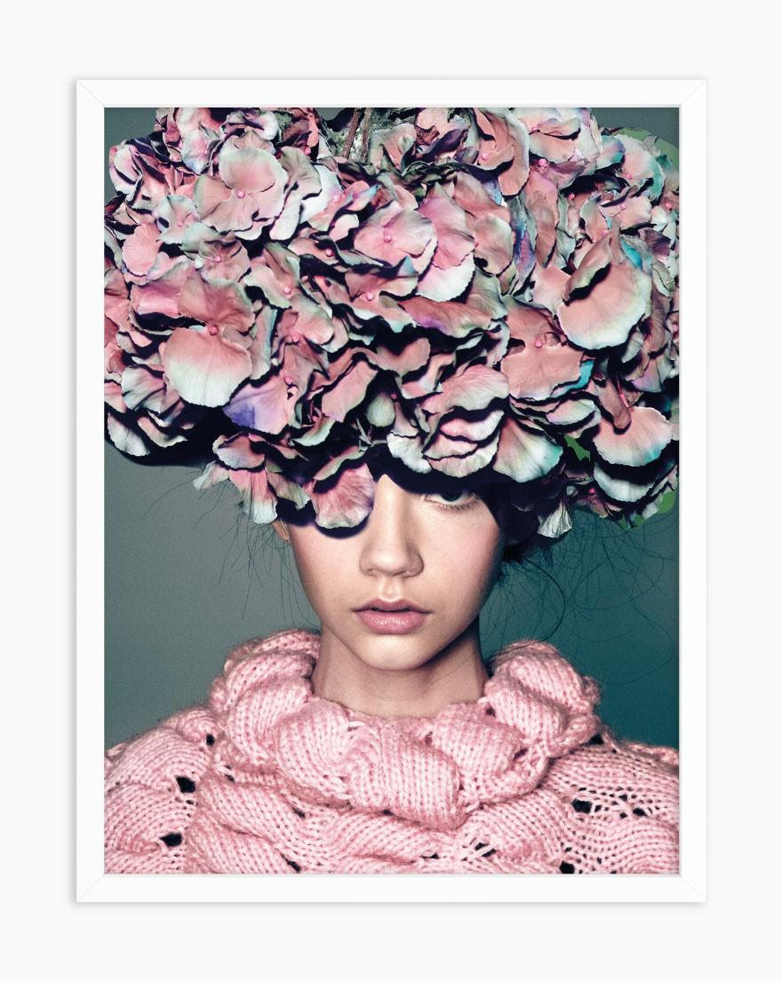 Quadro Floral Hair Model