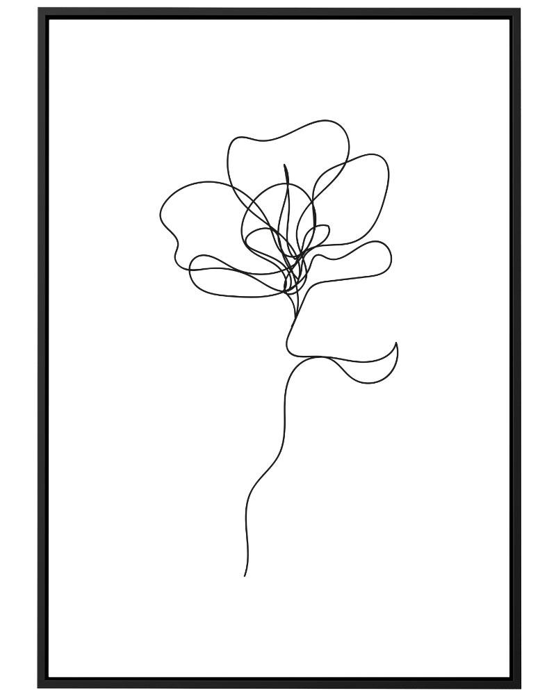 Quadro Flower Line