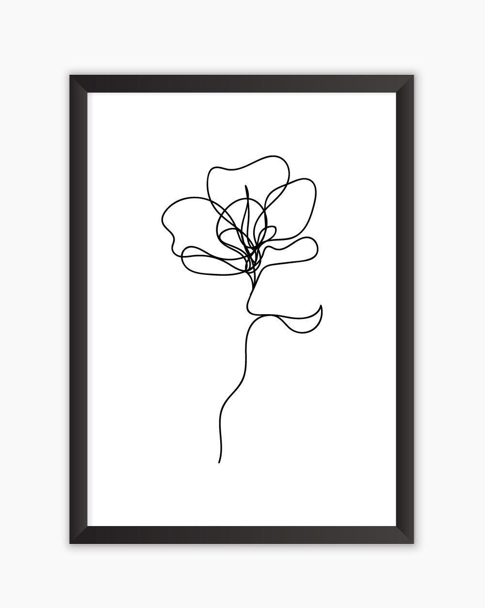 Quadro Flower Oneline