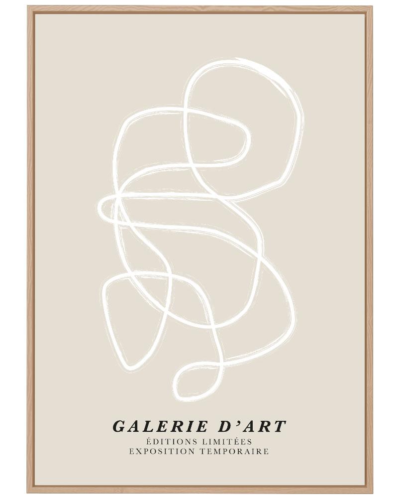 Quadro Galerie D'Art Offwhite