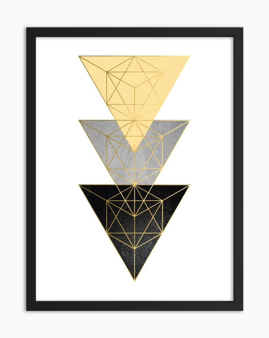 Quadro Geometric Black Yellow III