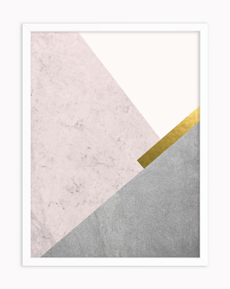 Quadro Geometric Blush Gold I