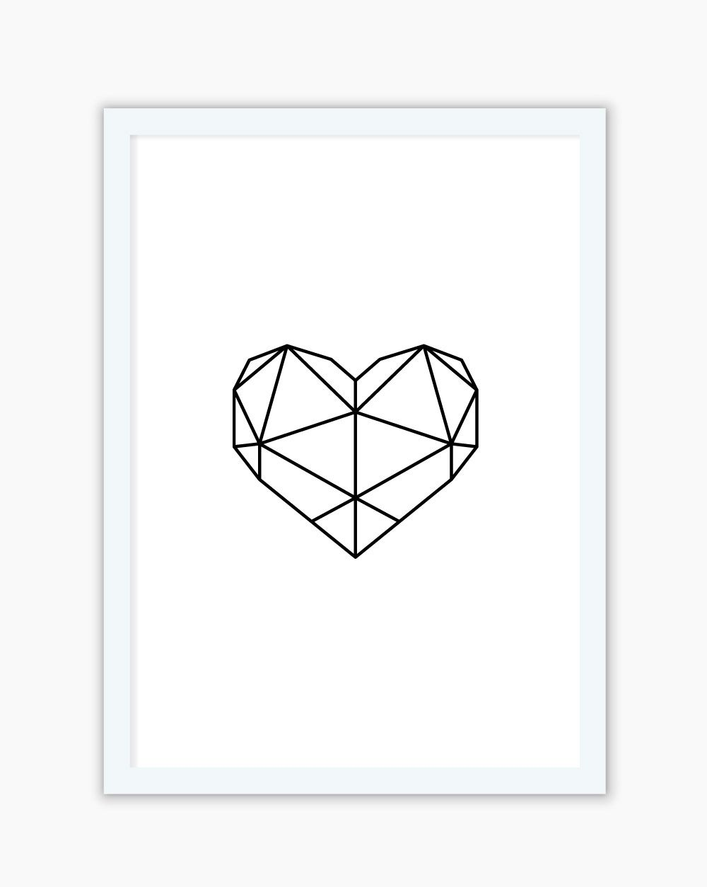 Quadro Geometric Heart
