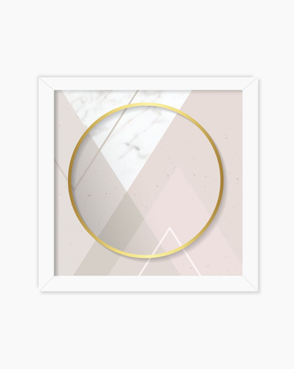 Quadro Geometric Marble