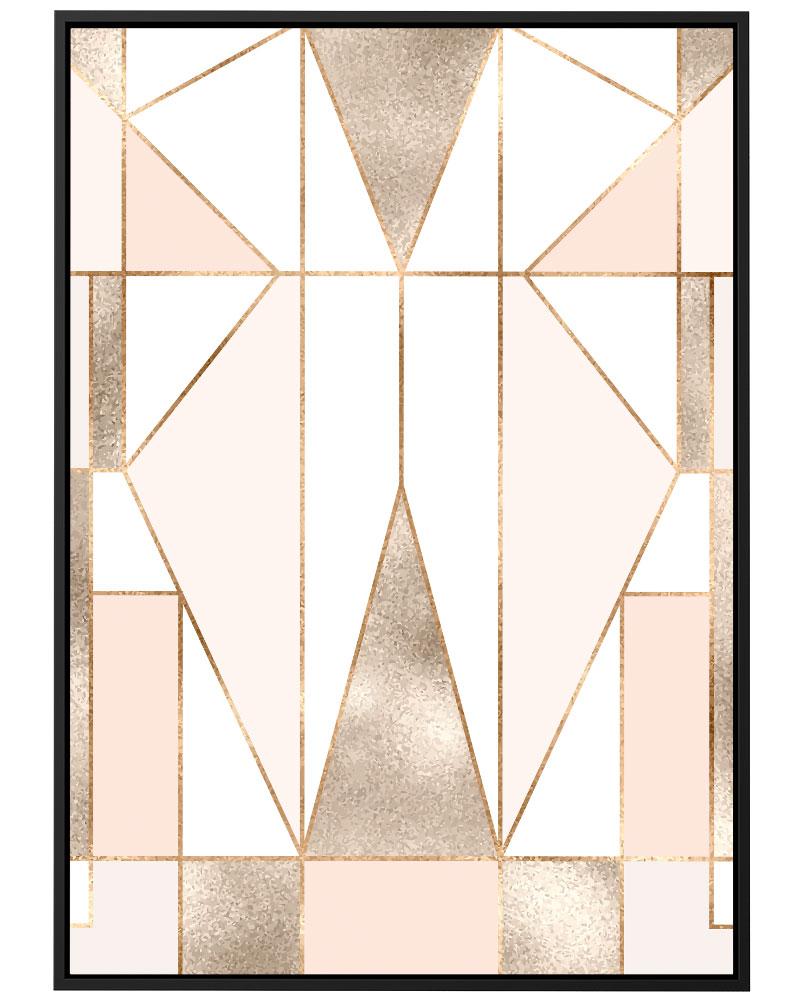 Quadro Geométrica Blush Rosé