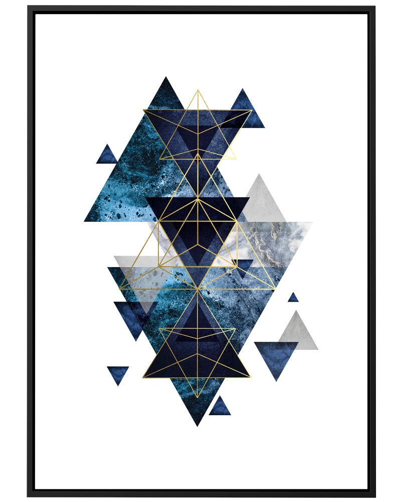 Quadro Geométrico Azul II