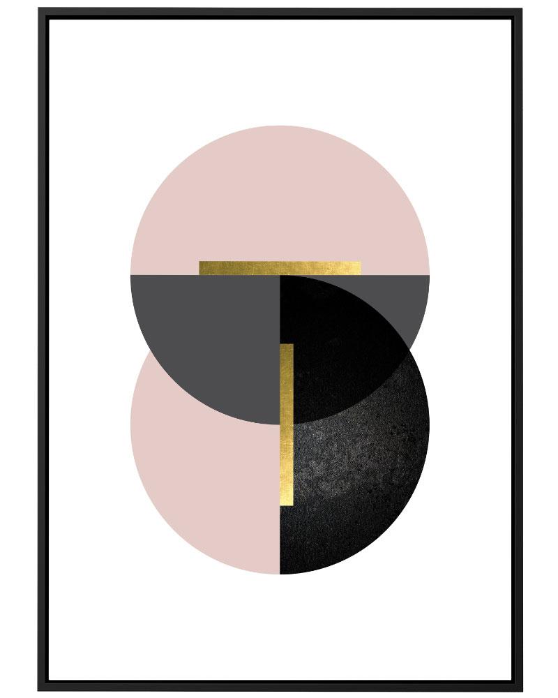 Quadro Geométrico Rose Cinza III