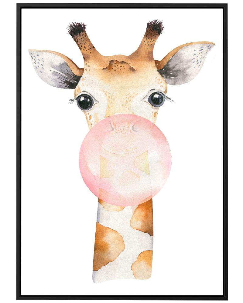 Quadro Girafa Chiclete