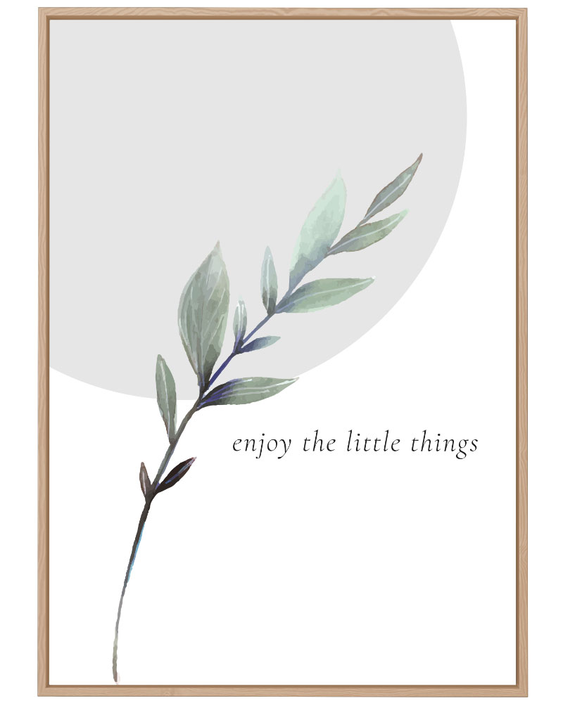 Quadro Green - Enjoy the Little Things