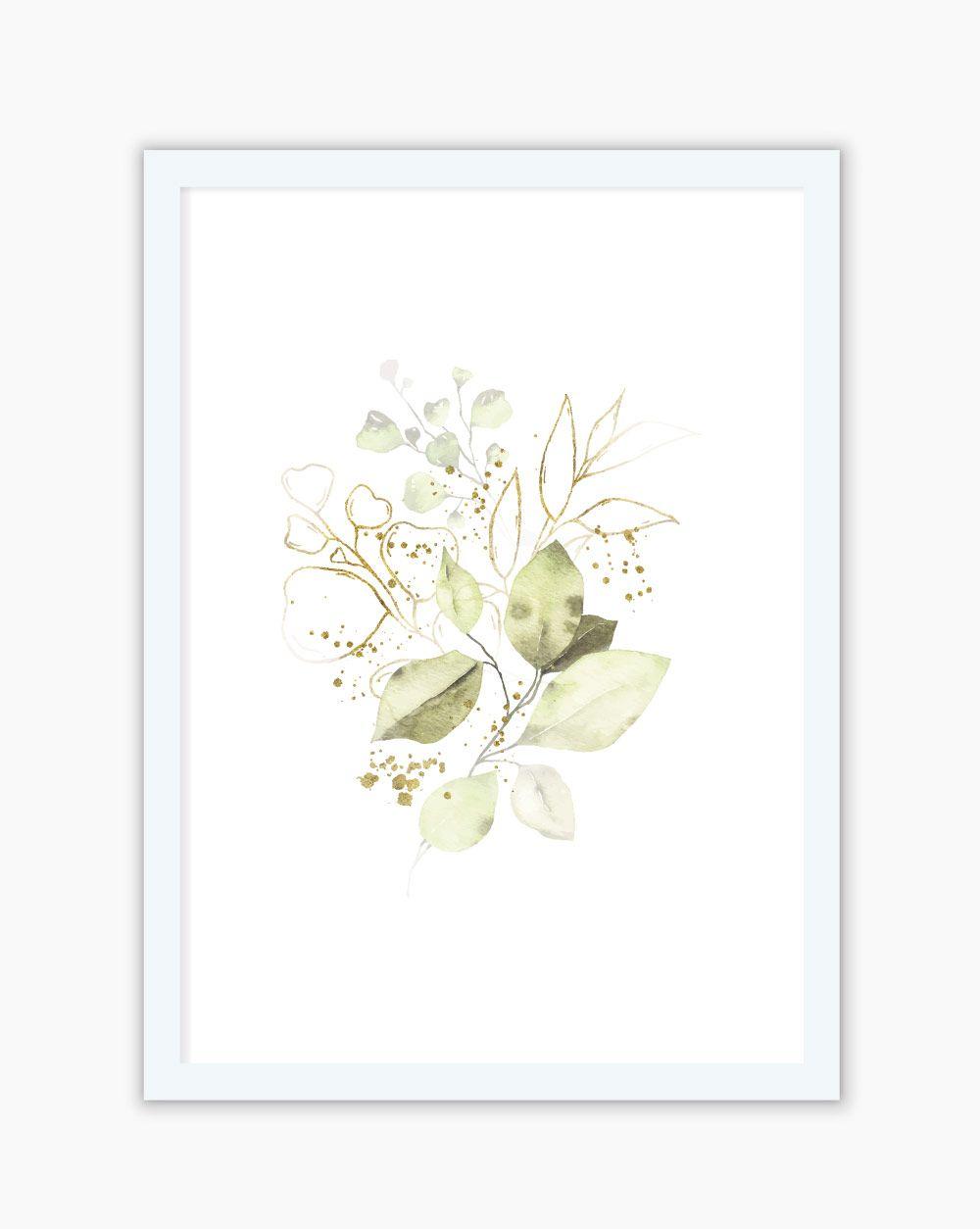 Quadro Green Flowers