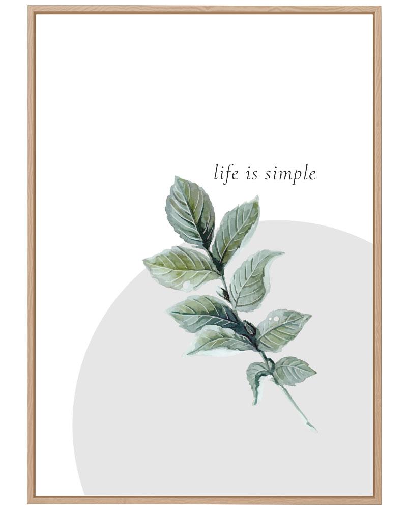 Quadro Green - Life is Simple