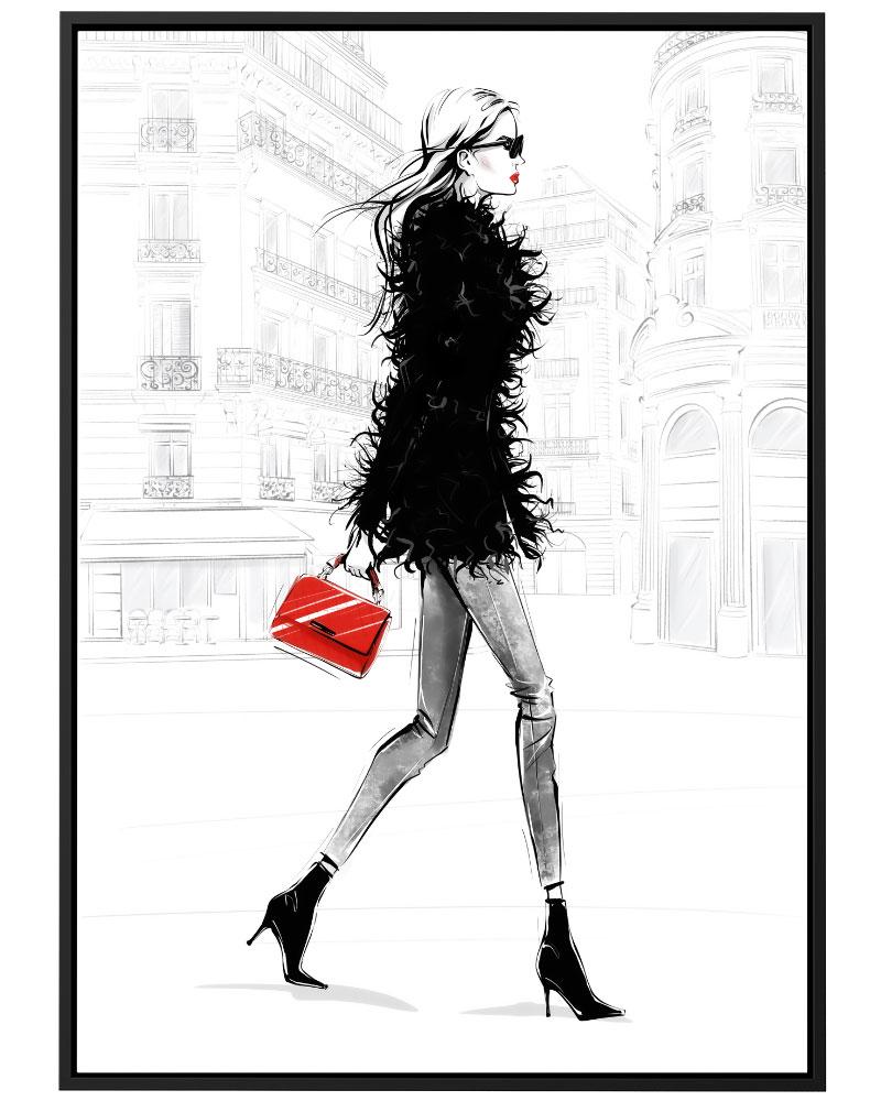 Quadro Ilustração de Moda