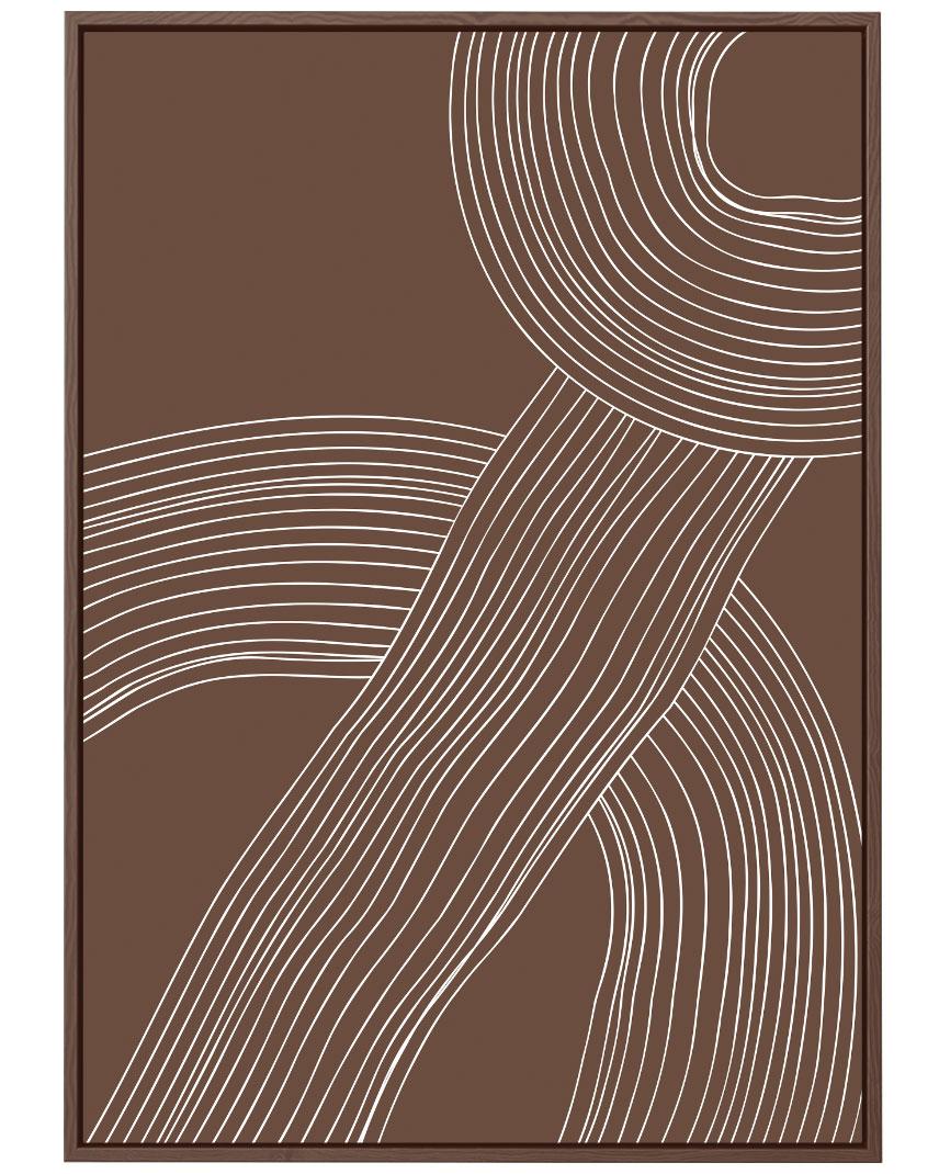 Quadro Lines Brown