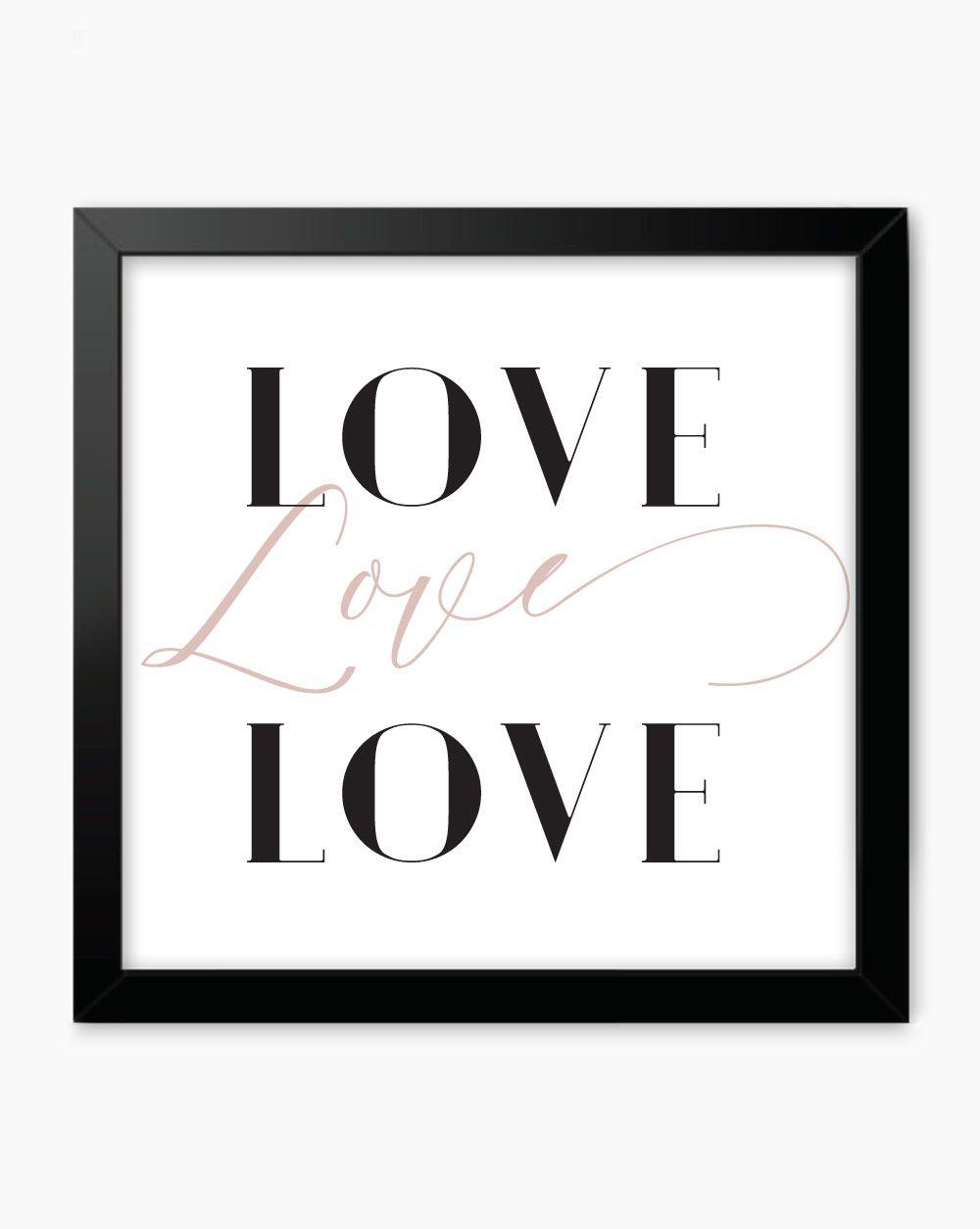 Quadro Love Love Love