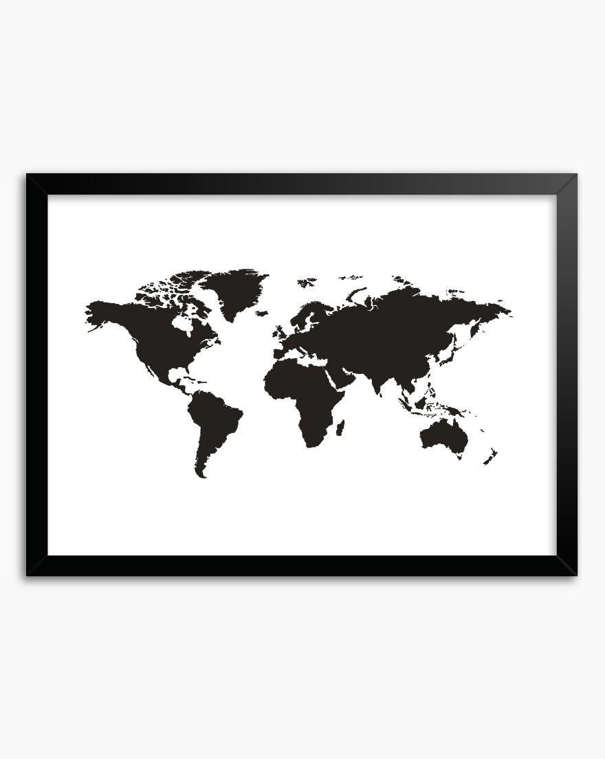 Quadro Mapa Black (Horizontal)