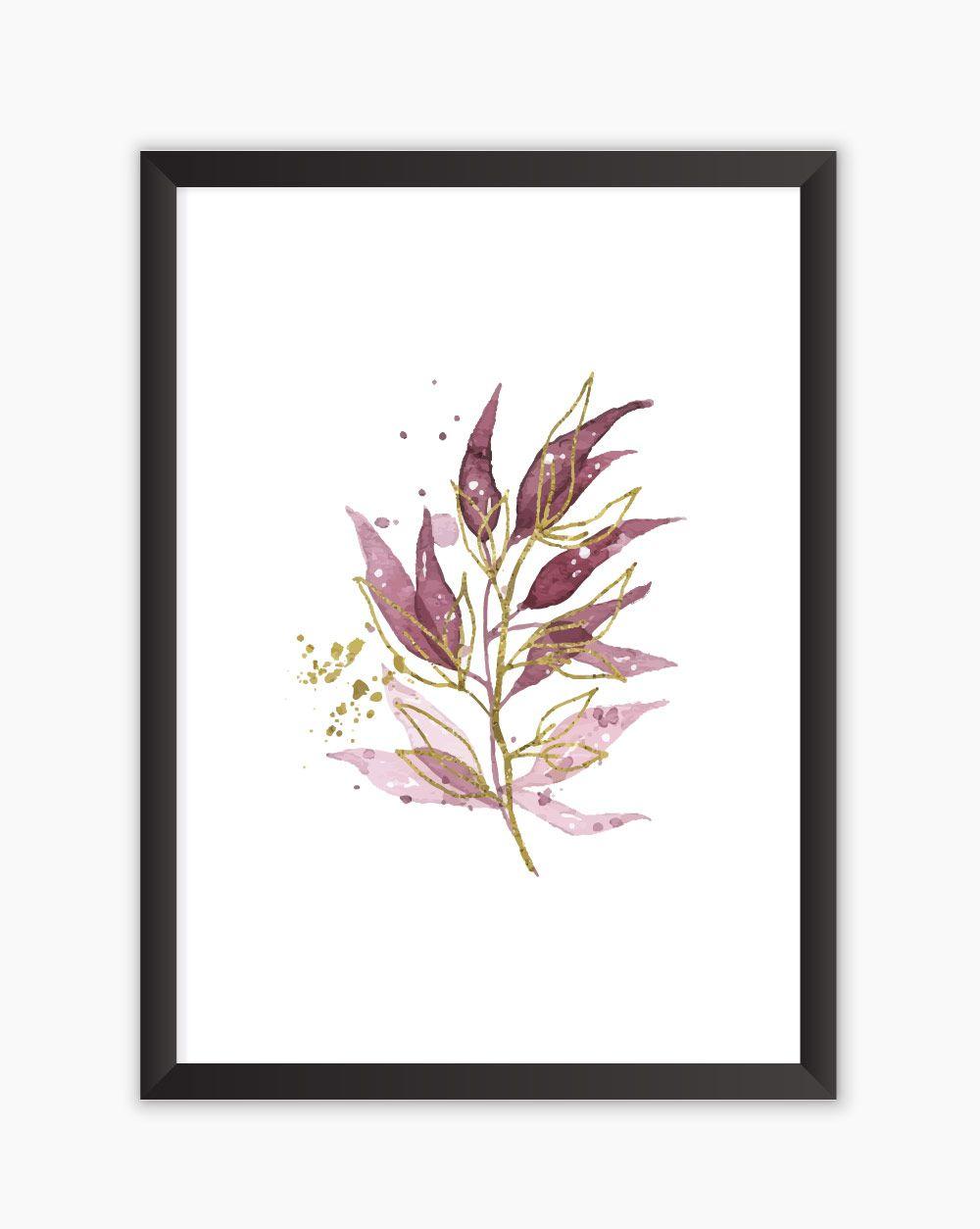 Quadro Marsala Flowers