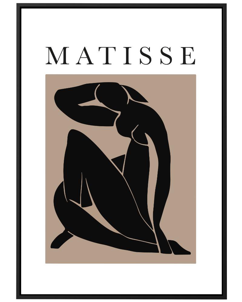 Quadro Matisse Marrom