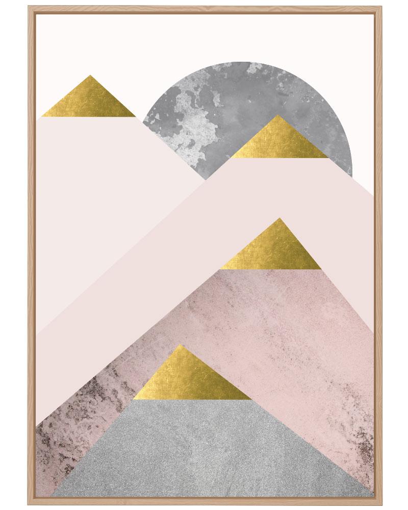 Quadro Montanhas Rosé II