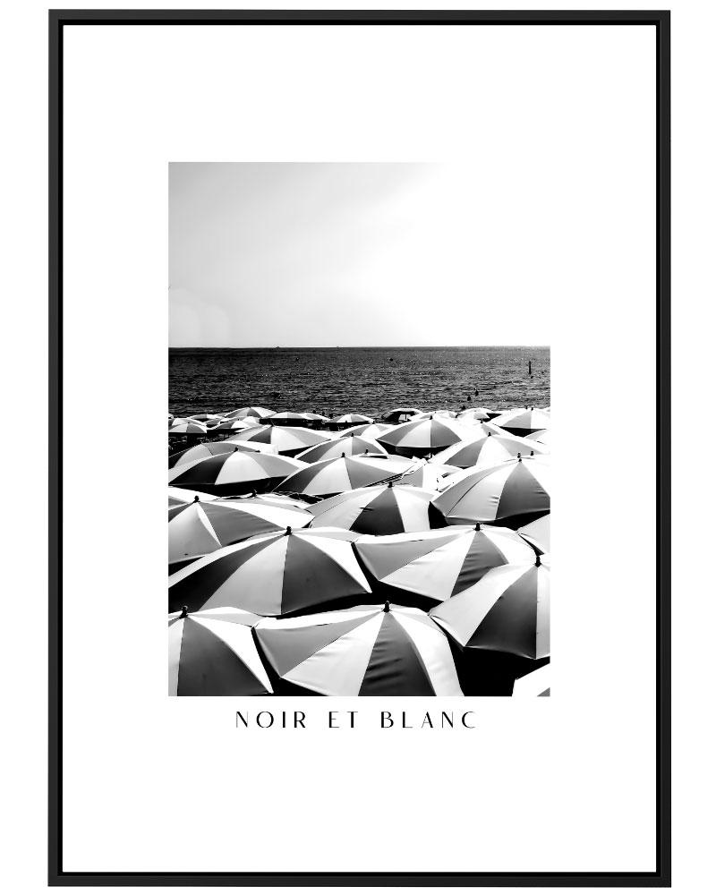 Quadro Noir Et Blanc - La Plage