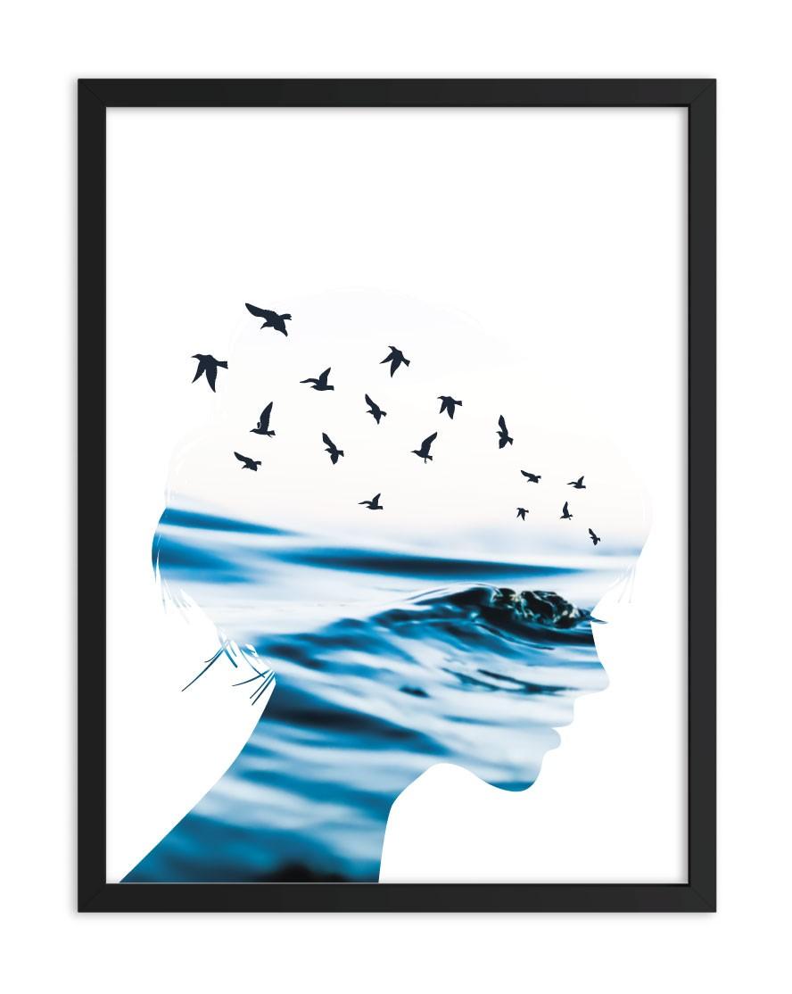 Quadro Ocean Woman Blue