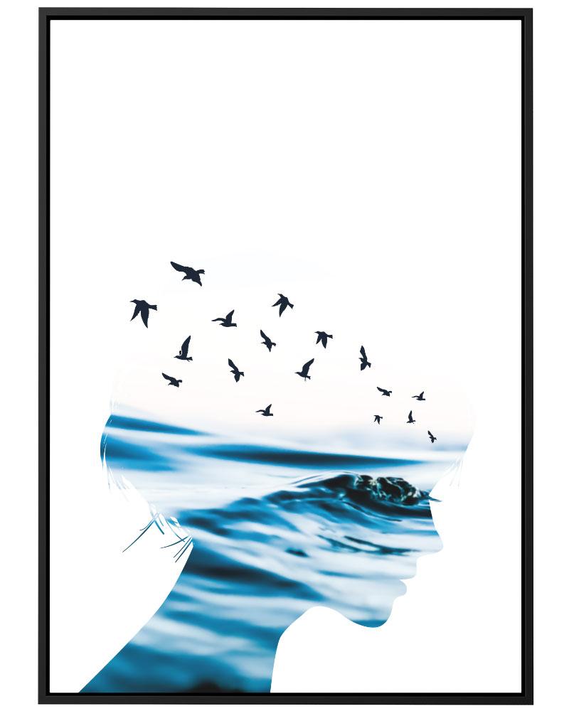 Quadro Oceans Azul