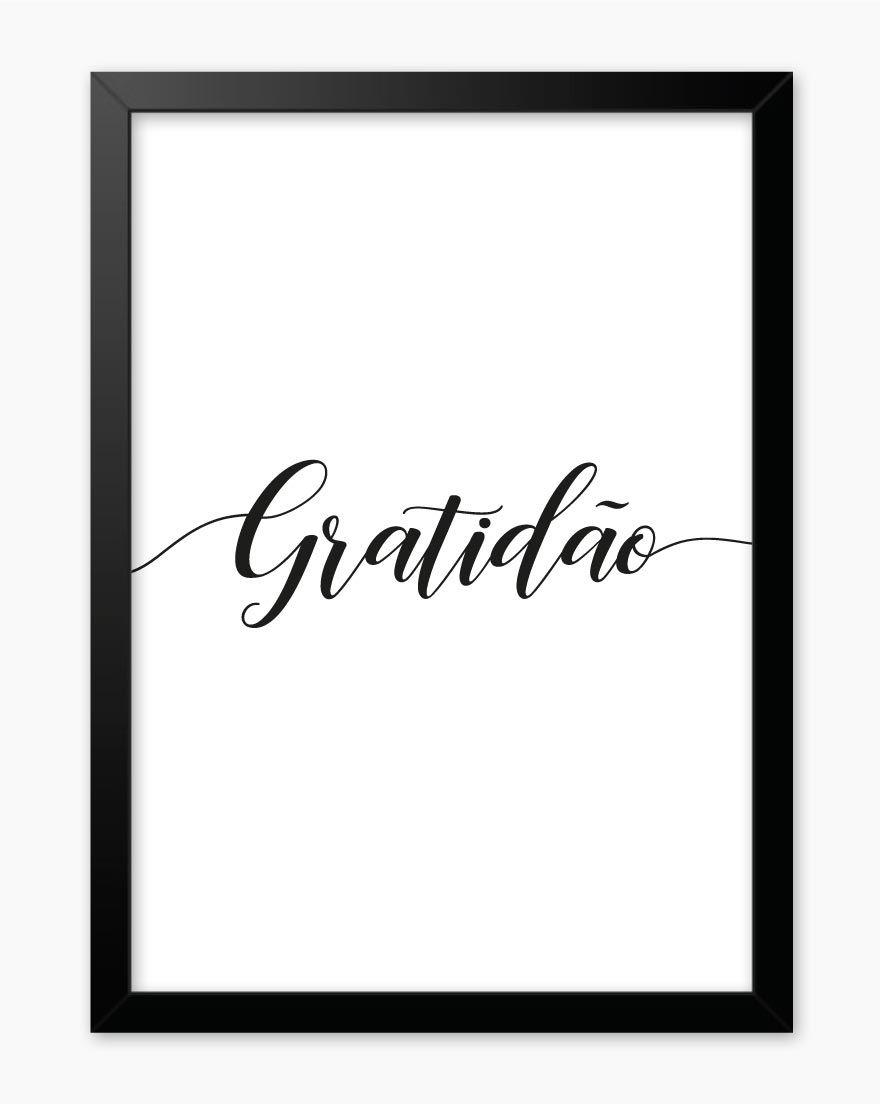 Quadro Palavra Gratidão