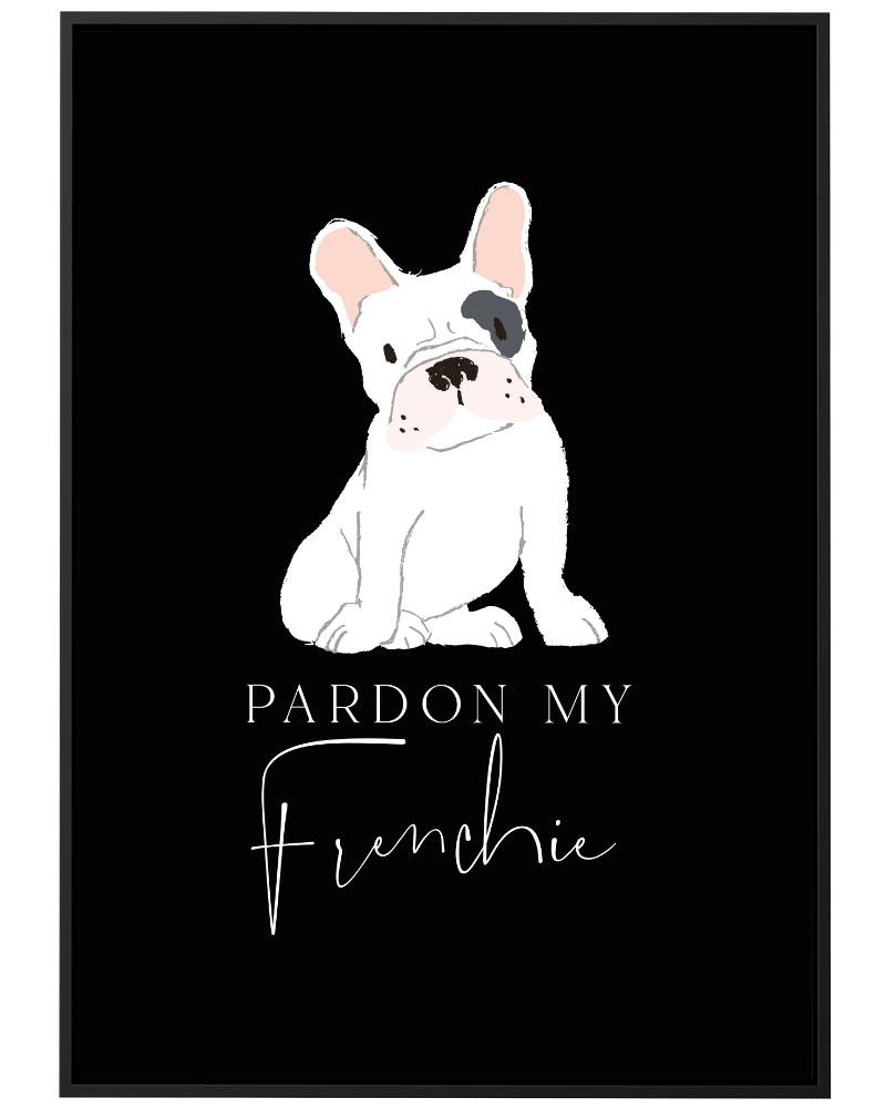 Quadro Pardon My Frenchie Black